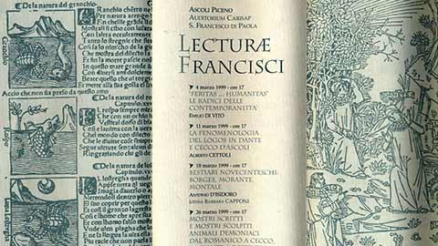 """""""Lecturae Francisci"""" II anno"""