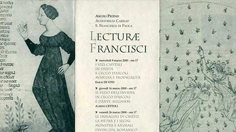 """""""Lecturae Francisci"""" III anno"""