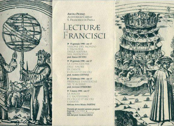 """""""Lecturae Francisci"""" I anno"""