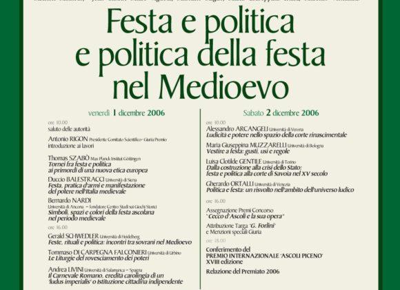Festa e politica e politica della festa nel Medioevo