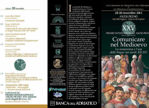 Comunicare nel medioevo.  La conoscenza e l'uso delle lingue nei secoli XII-XV